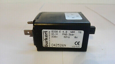 Bürkert Solenoid Valve, Type: 0330 E 4,0 NBR M5 (042526N) Good Condition