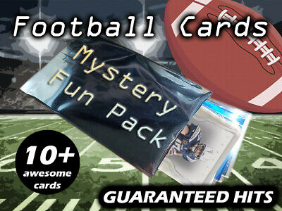 Football Card Mystery/Hot Pack 10 Cards - $25+ Value - Grab Bag - FREE SHIP!
