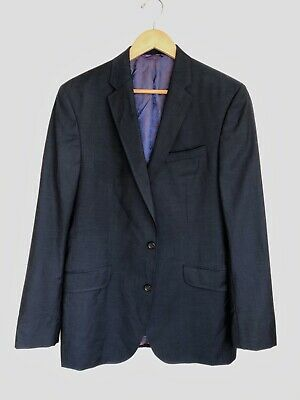 Ted Baker London Endurance Jarrett Wool Suit Jacket 42L Long Navy Blue