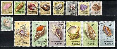 KENYA STAMPS- Sea Shells , set of 15, 1971  FU #