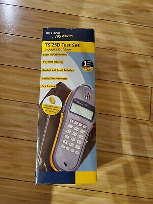 NEW FLUKE NETWORKS 25501109 Test Set,TS25D w/Earpc & Pouch