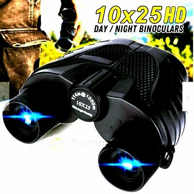 10X25 HD Binoculars with Night Vision BAK4 Prism High Power Waterproof + Case