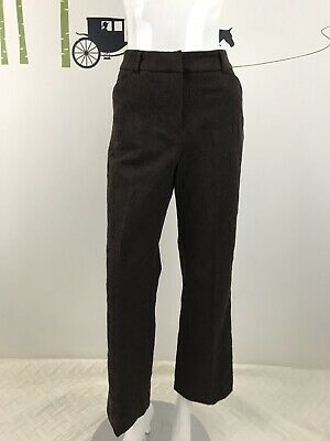Tribal Womens Size 10 Stretch Extensible Favorite Embroidered Print Brown Pants