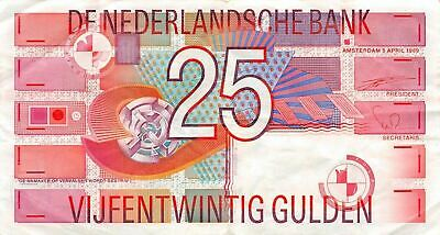 Netherlands  25  Gulden  5.4.1989  P 100  Circulated Banknote X10