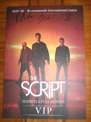 The Script - Sunsets & Full Moons Tour - Autographed A4 Picture