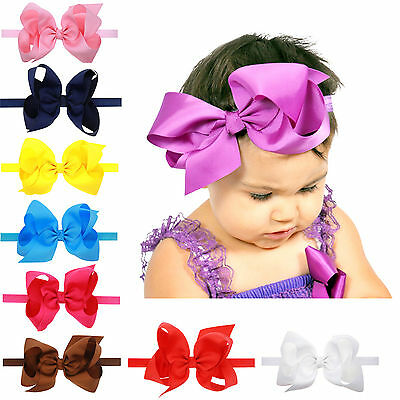 Newborn Baby Elastic Headdress Kids Girls Bow Knot Hair Band Headband Head Wrap