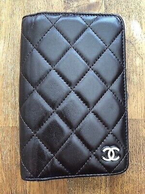 CHANEL Matelasse CC Logo  Note Agenda Day Planner Cover ~ Milk Chocolate Color
