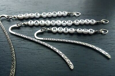 Bookmarker  Personalized. Any Name Make It Special With A Letter Bead Bookmark