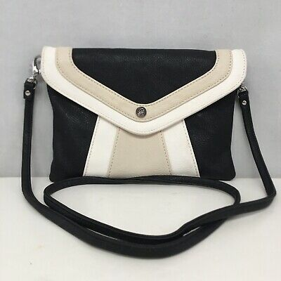 Grace Adele Cream Black Shay-Ocean Clutch Handbag New Without Tags