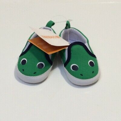 NWT Gymboree Boys Baby Crib shoes Dinosaur Dino and Roar 01,02,03,04