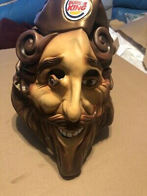 Vintage 2007 BURGER KING DELUXE RUBBERY FACE MASK THE KING RUBIE'S Wear Stains