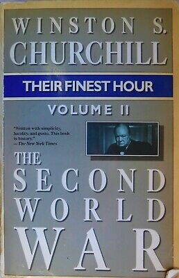 The Second World War: Their Finest Hour Vol. 2 by Winston S. Churchill (1985)