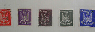Germany 1923  Airmail Stamp set  5  stamps  Mint ( No Gum)  & Used Nice