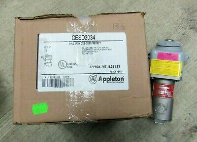 New Appleton CESD-3034 Receptacle 30 amp 3 wire 4 pole 3 phase NIB