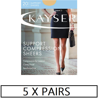 WOMENS 5 PACK KAYSER SHEER SUPPORT PANTYHOSE Sheers Tights Stockings Work Sexy