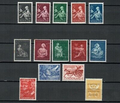 NETHERLANDS Collection of POSTALLY MH Sets of Stamps 1933-1939 LOT ( NETH 218)