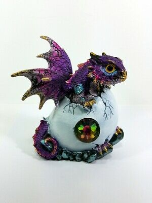 Purple Baby Dragon Hatching From an Egg Collectible Figurine 71831
