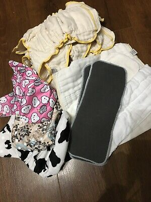 Cloth-eez Workhorse 6  Organic Fitted Diapers Plus 3 Covers / 6 Liners 3 Extr