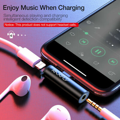 RAXFLY Lightning to 3.5 mm Headphone Jack Aux Adapter Cable For Phone 7 8 Plus X