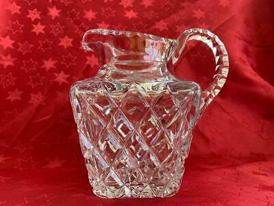 Stunning Vintage  Heavy Diamond Cut Crystal Water / Pitcher Jug
