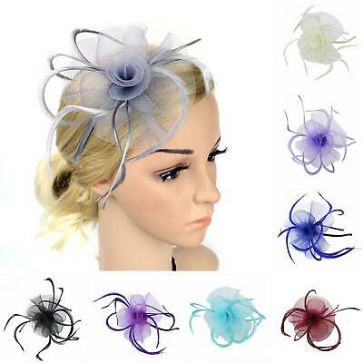 Fm_ Feather Loop Headband Alice Band Fascinator Ladies Day Wedding Royal Ascot S