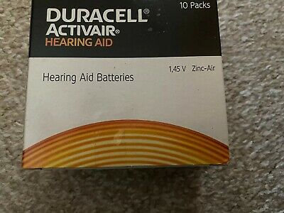 Duracell Activair Mercury Free Size 312 Hearing Aid Batteries x60 Cells
