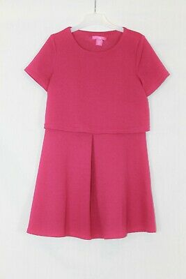Young Dimension Girls Fuchsia Pink Textured Dress age 10-11 Years