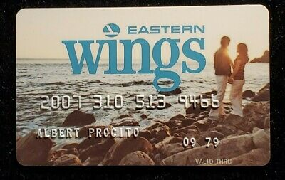 Eastern Wings credit card exp 1979♡Free Shipping♡cc1205♡Eastern Airlines