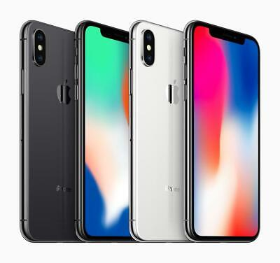 Apple iPhone X 64GB 256GB Unlocked - Space Grey Silver All Grades - 12M Warranty