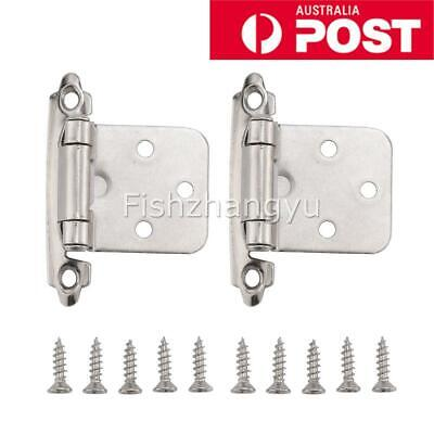 Self Closing Flush Mount Cabinet Door Hinges Variable Overlay for Kitchen OZ
