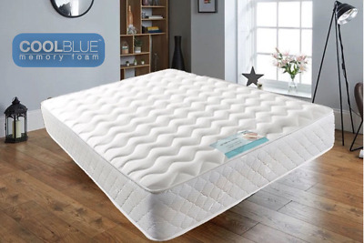 Memory Foam Mattress Spring 3ft Single 4ft6 Double Bed Orthopaedic&FREE SHIPPING