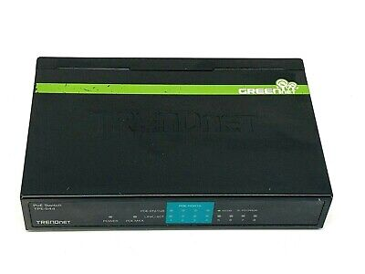 TRENDnet Ethernet Switch TPE-S44 Fast 8-Port 10//100Mbps PoE NO A//C Adapter Incld