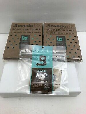 Boveda 62% RH 2-Way Humidity Control 320 gram 2 pack and 10x4g Bonus pack