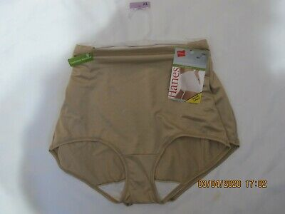 Hanes Collection Ladies Light Shaping Control Briefs 2 Pair Size XL