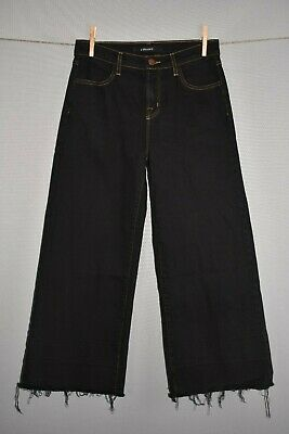 J BRAND $218 Liza Mid Rise Culotte Seduction Dark Wash Cropped Wide Leg Size 25