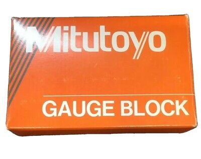 "Mitutoyo 614165-23 .125"" GRADE FS 2 SQUARE STEEL GAGE BLOCK 1/8"" Measuring Gauge"