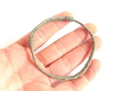 Exquisite IRON AGE Hallstatt Culture ANCIENT Celtic Bronze BRACELET > 700 BC *^*