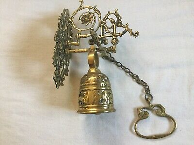 Antique Style Pull Chain Wall Mounted Solid Brass Doorbell Door Bell