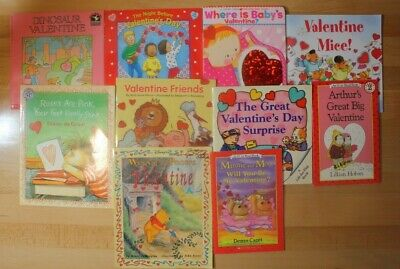 VALENTINES DAY Books for Children! Paperback and Board Book! Lot of 10 FREE SHIP