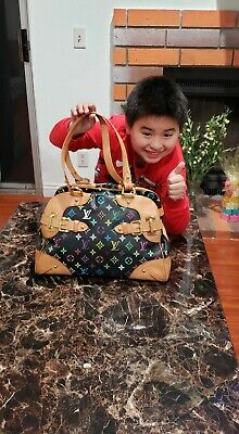 Authentic Louis Vuitton Claudia Black Monogram Multicolor Canvas