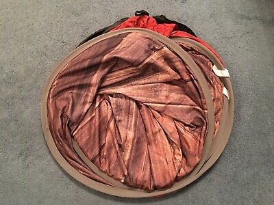 Savage 5 x 7 ' Collapsible Disc Reversible Background ( Rustic Planks / Red )