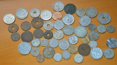 Qty Mixed World Coins - Germany,PNG,S.Africa,Greece,Fiji + Others.