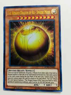 YUGIOH The Winged Dragon of Ra-Sphere Mode DUPO-EN045 Ultra Rare 1st Edition NM