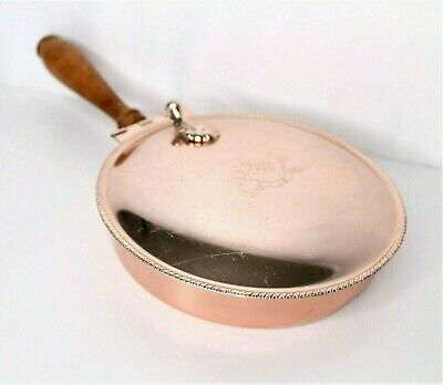 "Crumb Catcher Silent Butler Ashtray ""Major Ab Adversis"" by Nasco Italy Copper"