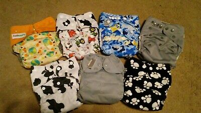 All In One Cloth Diaper Lot ONE SIZE ADJUSTABLE Bumgenius, Happy Flute, Ect!
