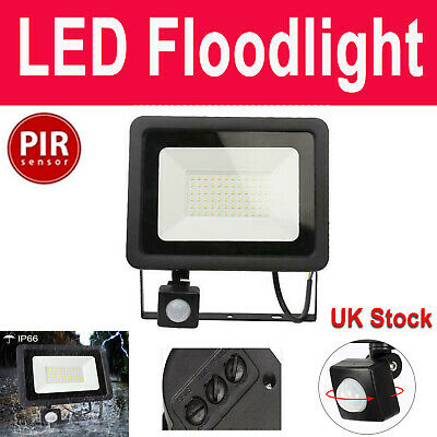 100W LED Security Flood Light Motion PIR Sensor Outdoor Garden Yard Spotlight