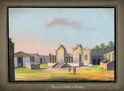 Italian School, Temple of Isis, Pompeii – Early 19th-century gouache veduta