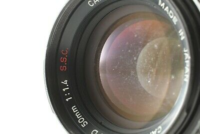 【As is】 Canon FD 50mm f/1.4 S.S.C. SSC SLR MF Standard Len From JAPAN #008