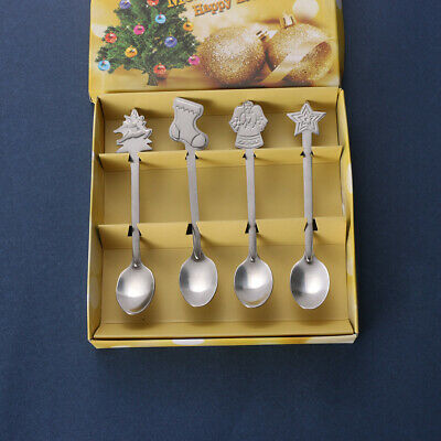 Dining Stainless Steel Kids Spoon Tea Scoops Tableware Christmas Coffee Spoons