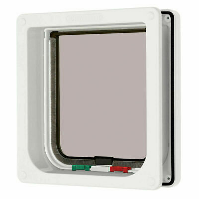 Cat Mate 4 Way Locking Cat Flap & Trimmable Door Liner White 20cm Height